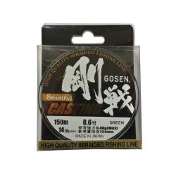 Pītā aukla GOSEN CASTING 8x Omega  PE , 150m, 0.6 (0.132mm), 14lb(6.4kg)