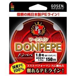 Pītā aukla GOSEN DONPEPE  PE , 150m, 0.5 (0.116mm), 8lb(3.6kg)