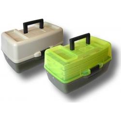 Trīsplauktu kaste ar caurspīdīgu vāku